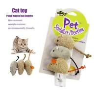 3X Pet Cat Toy Plush Mouse Cat Interactive Bite-Resistant Scratch-Resistant AU