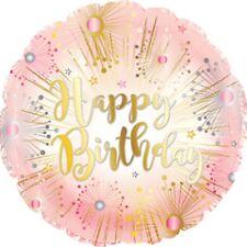 "ROSE GOLD HAPPY BIRTHDAY 17"" FOIL BALLOON!"