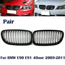 Gloss Black Front Kidney Mesh Grille For BMW E90 E91 4D 325i 328i 2009-2012