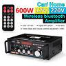 bluetooth Audio Stereo Power Amplifier Karaoke HIFI USB FM SD MIC Port 220V/12V