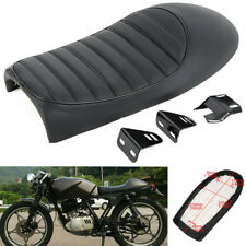 Black Motorcycle Cafe Racer Seat Hump Saddle For Honda Suzuki Kawasaki Yamaha