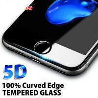 5D Curved Full Tempered Glass Screen Protector Film For iPhone XR XS MAX 7 + CP