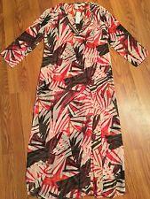fd8e96fef4 FANTASIE KAFTAN Sheer Long Print Multi Sequins COVER-UP Sz S Palm Floral  Swim