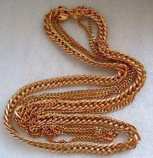 """Vintage Monet Triple Chain Long Gold Tone 31"""" Long Necklace, 144 gram Estate Lot"""