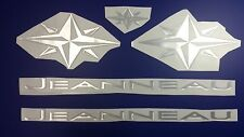 "JEANNEAU boat Emblem 22"" Epoxy Stickers Resistant to mechanical shocks"