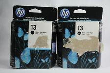 2 - HP 13 Black Genuine Ink Cartridges C4814A (EXP 09/2014)