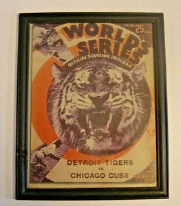 Framed 1935 World Series Official Souvenir Program Cover Detroit Tigers Chicago