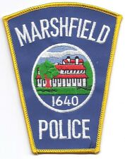 **MARSHFIELD MASSACHUSETTS POLICE PATCH**