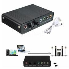 1 x External USB 5.1 3D audio Sound Card Virtual 7.1 Channel Converter Adapter