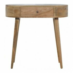 Rounded Mid Century Desk / Console Table / Dressing Table Scandinavian Style