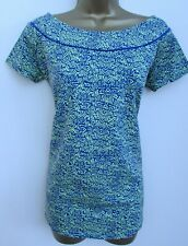 NEXT MATERNITY LADIES BLUE & GREEN SHORT SLEEVED T-SHIRT TOP SIZE 10 BNWT