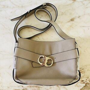 TORY BURCH Solid Tan Soft Leather Shoulder Bag