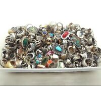 50 GRAM ASSORTED STERLING SILVER 925 RING LOT WHOLESALE RESALE VINTAGE NOW