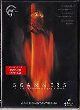 David Cronenberg: SCANNERS. Tarifa plana envío DVD para España, 5 €.