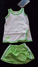 Beach Short Set Baby Gr.68 grün weiß Sommer-Set  Reebok T-Shirt+Hose, Baumwolle
