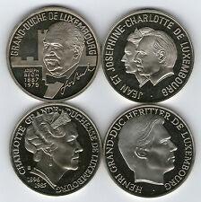(03) LUXEMBURGO / LUXEMBURG - Colección 4 monedas 5 ECU 1993 - 1998 Cu-Ni FDC