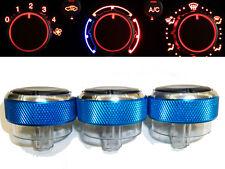 Ford FOCUS Custom Air Con A/C Dash Control Knobs Panel Dials 3 LIGHT BLUE - NEW