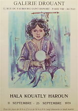 Hala Kouatly Haroun affiche quadri 1979 portrait orientalisme  P 735