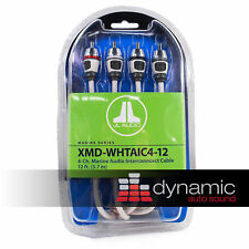 1JL AUDIO XMD-WHTAIC4-12 Marine Boat 4-Ch. RCA Cable 12ft. Water Resistance Wire