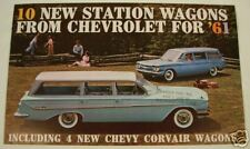1961 CHEVROLET STATION WAGON ADVERTISING SALES BROCHURE