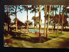 West Beach Biloxi MS Sea Gull Court Facing The Gulf Postcard 1950s