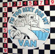 Comedy 1980's sticker for classic van or camper - VW Bedford Mini Escort Minor