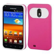 U.S. Cellular Samsung Galaxy S II 2 TPU Candy HYBRID GLOW Case Cover Pink White
