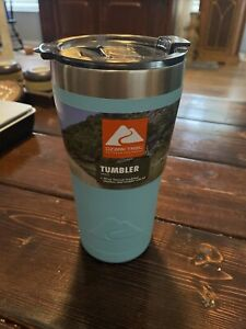 Ozark Trail Double-wall Vacuum-sealed Stainless Steel Tumbler Teal, 20 oz, New!!