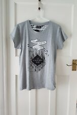 Primark Harry Potter Marauders Map grey t shirt small size 6/8