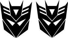 Transformers Decepticon decal vinyl sticker (quantity 2)