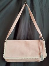 Billy Bag Powder Pink Seude Genuine Leather Shoulder Bag Vgc