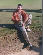 BEN CURTIS autographed 8x10 color photo     WITH BRITISH OPEN TROPHY