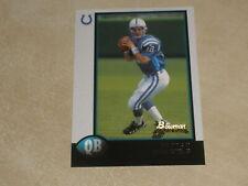 1998 Bowman Football #1 Peyton Manning Rookie RC