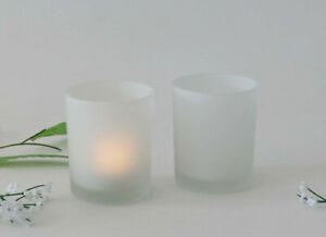 100 Frosted Glass Tealight Candle Holder bomboniere Wedding table decor 6cm high