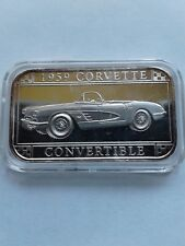 1959 Corvette Convertible Silver Art Bar by Sillvertowne  Gem  Rare