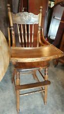 Antique solid Oak baby High Chair - Late 1800's - Wonderful Condition