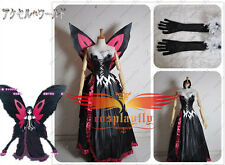 Accel World Kuroyukihimei Cosplay Costume Custom With Butterfly Wing Hot