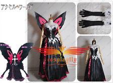 Accel World Kuroyukihimei Cosplay Costume Custom With Butterfly Wing Hot