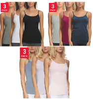 Felina Ladies' Cotton Stretch 3-pack Camisole, COLOR and SIZE VARIETY, NEW