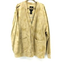 Akademiks' Cardigan Men's XL Varsity Tan Tie Dye Over Size Front Pockets