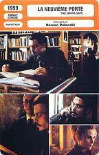 FICHE CINEMA FILM FRANCE SPAIN La neuvième porte /The ninth gate  Roman Polanski