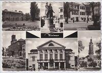 Ansichtskarte Weimar - Rathaus/Schloss/Schillerhaus/Goethehaus/Nationaltheater
