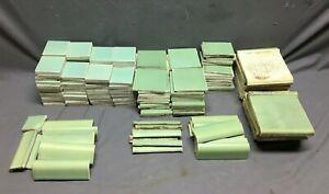 Antique VTG Ceramic Mixed Lot Jadeite Green Bathroom Mosaic Tiles Crafts 806-21B