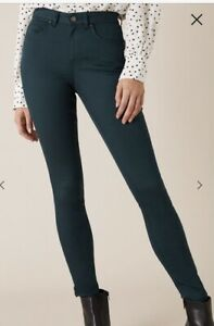 New Ex Monsoon Dark Teal Stretch Jeggings Size 8