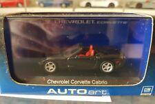 AUTOART - CHEV CORVETTE CABRIO [BLACK] 1/64 SCALE CAR NEAR MINT/ BOX GOOD