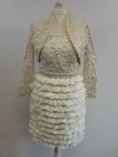 Carla Ruiz Mother Of The Bride Dress Suit - Cream & Gold - Size 8 - Box64 42 J
