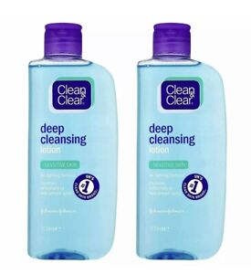 2 x Johnson and Johnson Clean & Clear Cleansing Lotion 200ml Sensitive Skin