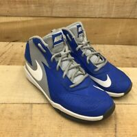 Nike Boys Team Hustle D 7 Basketball Shoes Blue Lace Up Mid Top 747998-400 5.5 Y