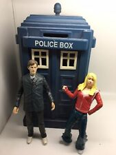 Doctor who figures Dr And Rose Tyler And Tardis Money Box Rare BBC Series Rare