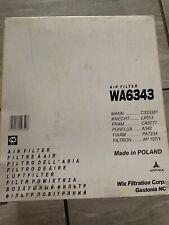 Wix WA6343 Air Filter, Freightliner, Dodge Sprinter Van, Mercedes